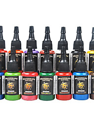 Dragonhawk® Dragonhawk Tattoo Ink 14-Pack Primary Color Set 0.5Oz Bottles