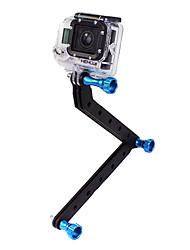 CNC de aluminio de armas y tornillo para GoPro HD Hero3 (azul)