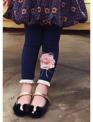 Girl's Cotton Leggings , All Seasons