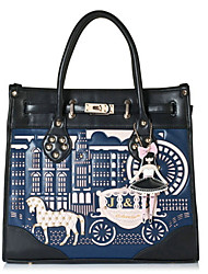 Jet & Sharon Little Horse Blue PU Gothic Lolita Shoulder Handbag