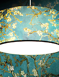 Prunus patroon hanger, 1 licht, karakteristieke ijzeren stof verven