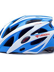 LUA Ciclismo azul e branco PC / EPS 21 Vents Protective passeio Helmet