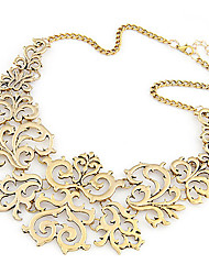Vinatge Hollow Flower Statement Necklace