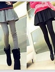 Women's Casual Pants , Cotton Blends Micro-elastic Black/Gray