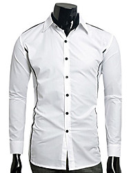 Men's Long Sleeve Shirt , Polyester Casual