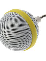 Estilo Arredondamento Speaker Portátil para iPhone / Samsung / HTC / Motorola / Nokia (branco)