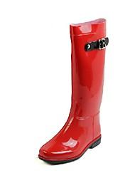Rubber Women's Flat Heel Rain Knee  High Boots (More Colors)