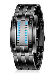 ZGO Unisex Black Dial Metal Band Quartz Analog Water Resistant Sport Wrist Watch