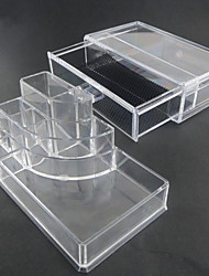 Acrylic Transparent Complex Combined Double Layer Cosmetics Storage with Drawer Cosmetic Organizer