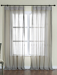 Two Panels  Succinct Modern Sheer Curtain