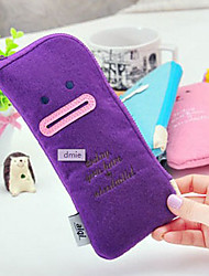 Lovely Expression Smiling Face Felt Pen Bag(Random Color)