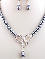Wedding Pearl Jewelry Set(Earrings & Necklace)