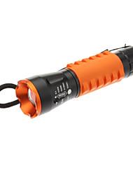 3-Mode CREE XM-L T6 Zoom Lanterna Torch (900LM, 1x18650/3xAAA, Laranja)