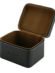 Classic PU Leather Solid Makeuos Storage Box