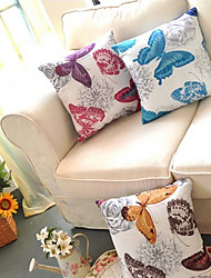 Country Style Colorful Butterflies Decorative Pillow With Insert