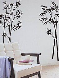 Botanical Bamboo Decorative Removable Wall Stickers
