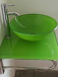 Contemporânea Colourfull Rodada pia do banheiro com descarga de água do banheiro torneira do banheiro