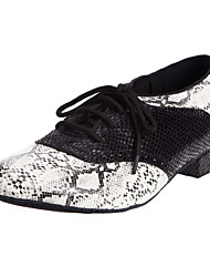 Men's Metal Snake Oxford Style Modern Dance Shoes