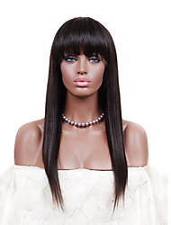 "18"" Silk Straight Peruvian Virgin Human Hair Lace Front Wigs"