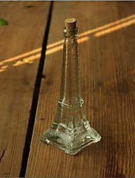 centres de table souvenir eiffel de verre de la tour / vase avec des bondes de bois deocrations de table