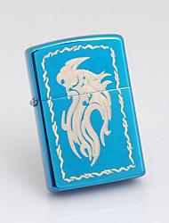 Isqueiro personalizado padrão gravado Dragão Oil Azul