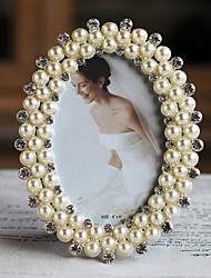 Estilo moderno do casamento Pérolas Picture Frame