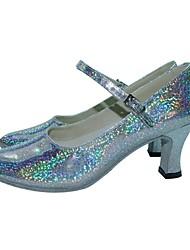 Женская Bling Искусственная кожа лодыжки ремень Современная танцевальная обувь