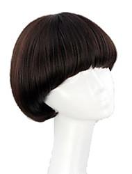 bob encaracolado perucas golpe completos sintéticos curtos cogumelo resistente ao calor penteado