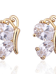Jian Feng Lovely Butterfly 18K Gold Plating Stud Earrings