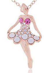 Dibeibi Frauen Korean Style Fashion Ballett-Mädchen Vergoldete Schlüsselbein Halskette (lila)