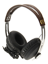 681 3.5mm Professional Headset On-ear Headphone for Telephone Computer (Brown)