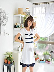 Maternity Bowknot Short Sleeves T-shirt Tops