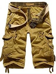 Moda cargo pantalones casuales pantalones cortos para hombres