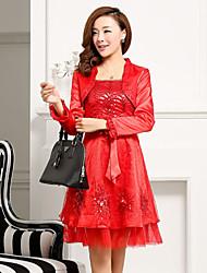 Wanmei Ensemble de mariage de dames (Rouge)