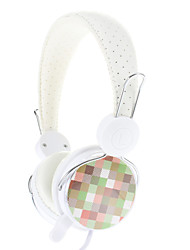 MV-7 Stereo High Quality Black On-ear Headphone for PC/MP3/MP4/Telephon with Mic(White)