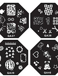 1PCS Nail Art Stamp Stempelen Image Template Plate QA Series NO.13-40 (verschillende Pattern)