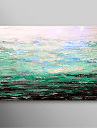 Hand Painted Oil Painting Landscape Blue Sea with Stretched Frame Ready to Hang
