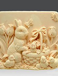 Festival de Pâques de lapin de savon Moule