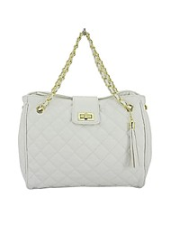 Quilted PU Leather Women Handbag with Chain