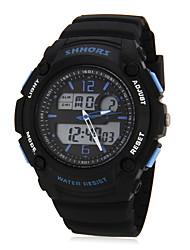 Hombre de múltiples funciones de Digitaces del dial de goma banda reloj de pulsera (colores surtidos)