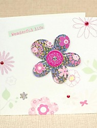 Square Side Fold Greeting Card with Rhinestone for Mother's Day