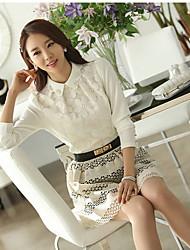 AIDE modèle coréen Mesh Lace base ShirtYL1014 (Blanc)