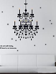 Plafond 1PCS Black Classic lampe Wall Sticker