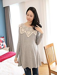 Maternity Long Sleeves Loose Big Size T-shirt Tops
