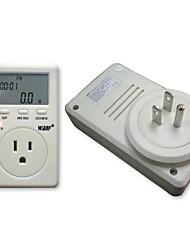 EUA Fase plug Único Poder Watt Volt Amp Energy Meter Analyzer com Fator de Potência