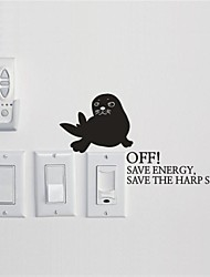 Animals  Seals Switch is Stuck Wall Stickers