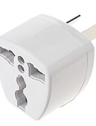 Universal AU Port Travel Power Adapter Plug (250V, wit)