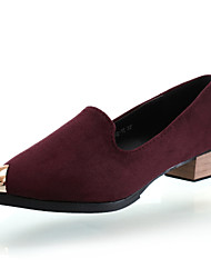 Suede Women's Low Heel Cap-toe Loafers Shoes (More Colors)