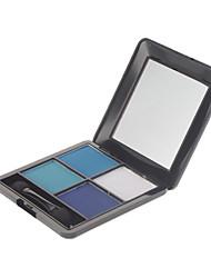 4 Eyeshadow Dry / Mineral Eyeshadow palette Powder Normal