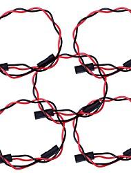 2 PIN Dupont Fil connecteur femelle 200mm Longueur 2,54 mm - Rouge + Noir (5Packs)